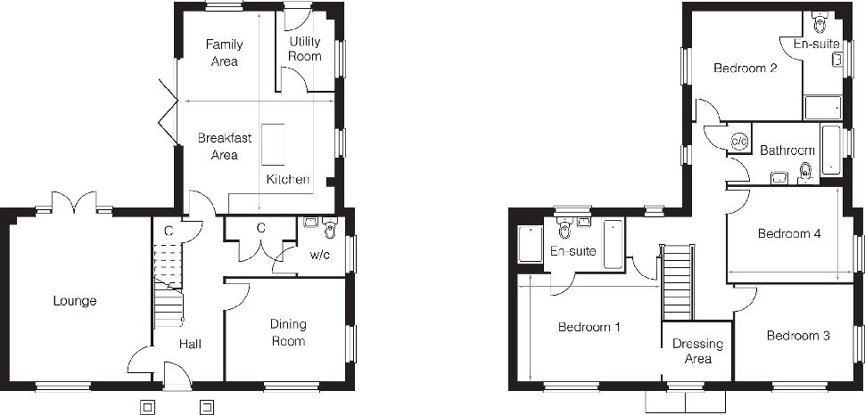 The Dalton, Plot 39, Floorplan 1