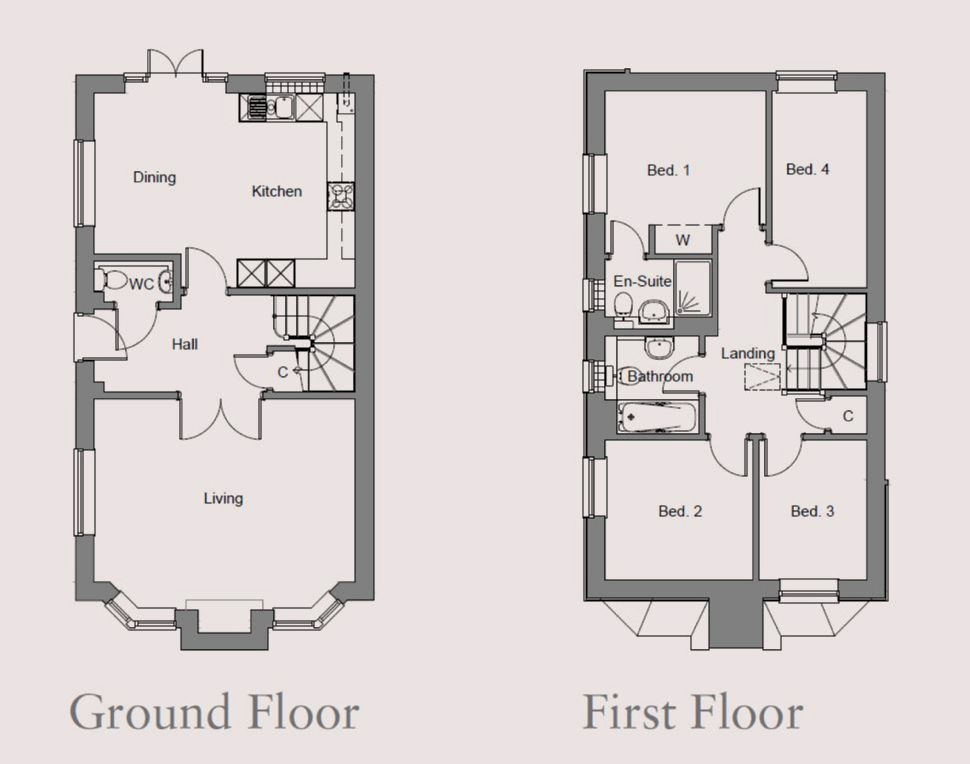 The Holly Plot 16 At Boughton Park, Floorplan 1