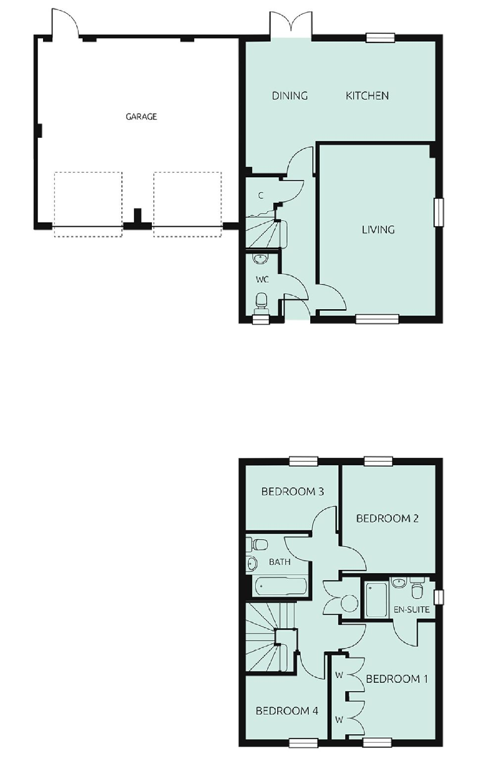 The Ely, Floorplan 1